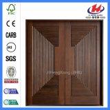 Double antique en bois massif de l'intérieur des portes en acajou
