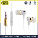 Cancelamento de ruído Mini-Música na orelha média Mobile fone de ouvido com fio