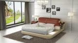 Кровать Leatehr самомоднейшей домашней мебели мягкая Queen-Size