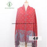 Le Népal style le plus récent Paisley Jacquard imprimé foulard Pashmina châle de mode