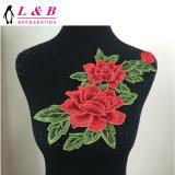 Kundenspezifischer großer Kleidung-Zubehör-Blumen-MotivApplique