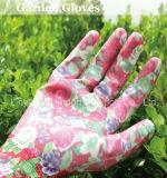 Les nitriles ont plongé des gants de travail de jardin avec la bonne qualité