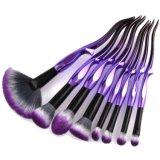 Nuevo diseño 8 PCS Conjunto de cepillos de maquillaje de color púrpura con etiqueta privada