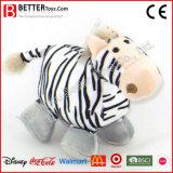 아기 아이를 위한 귀여운 견면 벨벳 박제 동물 얼룩말 연약한 장난감