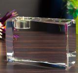Cubo de vidro gravado laser quente do cubo de cristal da venda 3D em China