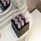 Kundenspezifischer schwarzes Fach-Acryllippenstift-Halter der Farben-9
