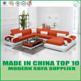 Moderne Art-Wohnzimmer-Möbel-hölzernes ledernes Sofa