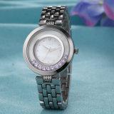 ODM-Edelstahl-Uhr-Geschenk-Frauen-Form-Uhr (Wy-029A)