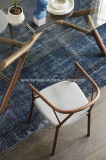 パッドを入れられたシートが付いている食堂の家具の現代木の椅子