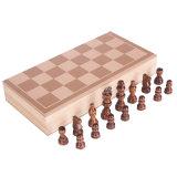 Giocattoli educativi di corsa di scacchi dell'insieme della tavola reale dei bambini di legno del gioco da tavolo