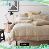 美しくデラックスなサテン白の寝具