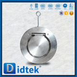 Clapet anti-retour simple d'oscillation de disque de plaque de service durable de Didtek