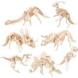 brinquedos educacionais de montagem da inteligência dos jogos do dinossauro de madeira dos enigmas 3D para crianças e adultos
