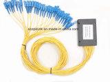수동적인 광학적인 통신망을%s PLC 1X32 쪼개는 도구 플라스틱 상자 Opitcal 섬유 (PON)