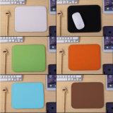 Настраиваемые кнопки Двусторонняя PU Кожаный коврик для мыши приятный чистый цвет запаха