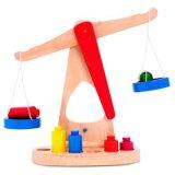 Scale d'equilibratura del giocattolo educativo di legno dei bambini di Montessori