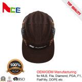 Altos sombreros del Snapback de la corona de la aduana 5 de las lanas calientes de los paneles con la escritura de la etiqueta de la onda
