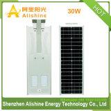 integriertes Solarder straßenlaterne30w mit Batterie des Lithium-LiFePO4