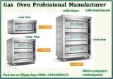 De industriële Commerciële Oven van de Convectie van het Dienblad van het Gas 2deck 2 van de Apparatuur van de Catering met Ce