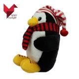 Nouvelles 2018 jouet en peluche pingouin de Noël en peluche avec chapeau