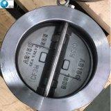 Valvola di ritenuta caricata a molla personalizzata della cialda del singolo piatto doppio del disco dell'acciaio inossidabile del acciaio al carbonio