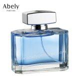 De maat Fles van het Glas van het Parfum van de Ontwerper met de Plaat van het Embleem
