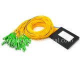 Divisore del PLC del contenitore di ABS dello Sc APC della fibra 2*64 utilizzato per FTTH