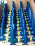 Extensión enterrado de metro de tallo largo soldado completamente la válvula de bola