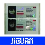 OEM de produits pharmaceutiques d'impression de l'emballage Etiquette du flacon de 10ml hologramme