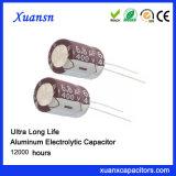 Condensator 6.8UF van het Aluminium van de hoogspanning de Elektrolytische 400V
