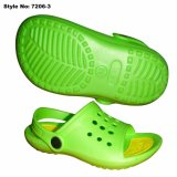 Green EVA Open Toe Kids sandales, sandales enfant durables