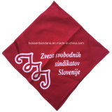 Rote Baumwollbandanna des Fabrik Soem-Erzeugnis-kundenspezifisches weißes Firmenzeichen gedruckte Zoll-22*22