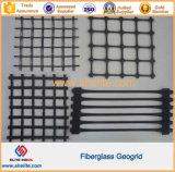 100kn/M 50kn/M Glassfiber de fibra de vidrio de geomalla
