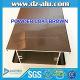 Профиль анодированный/порошок пальто Brown алюминиевый для Италии/франчуза/рынка Германии