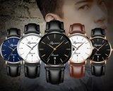 El Movimiento de Japón Super Slim el hombre reloj de cuarzo con correa de cuero