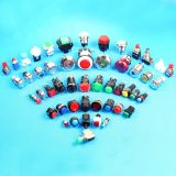 Мини-электрические нормально открытого типа Plastich кнопочный выключатель