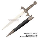 Templar 칼 중세 기사 칼 역사적인 회검 홈 훈장 55cm/40cm