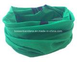 공장 생성 주문 녹색 로고에 의하여 인쇄되는 Microfiber 목 관 머리띠