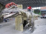 시뮬레이션 모형 공룡 전시회 또는 공원
