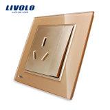 Plot électrique Vl-W2z1b-11/12/13 de commutateur cristal de Livolo de troupe de luxe du verre 1