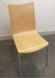 Restaurante Bentwood Cadeira de aço empilháveis