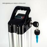 Silberne Fisch-Typ 36V 10/12/15 ah Lithium nachladbare Ebike Batterie