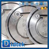 Didtek F316 스테인리스 고무 물개 단 하나 격판덮개 웨이퍼 역행 방지판
