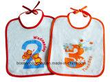 I prodotti della fabbrica hanno personalizzato la busbana francese del bambino stampata disegno del panno di Terry del cotone