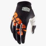 Il motocross protettivo del guanto del nero 100% MTB/BMX mette in mostra i guanti