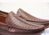 Goldene Lieferanten-Form-beiläufige Müßiggänger-Schuhe