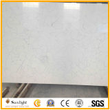 Quartz blanc poli Engineered Quartz pour comptoir en pierre artificielle