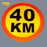 De weerspiegelende Verkeersteken van de Verkeersveiligheid van de Rijweg Met het Blad van het Aluminium