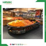 Supermarkt-Frucht-Gemüse-Bildschirmanzeige-Zahnstange