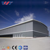 Construction en acier préfabriquée de H-Section de Glavanzed pour l'entrepôt (entrepôt de structure métallique)